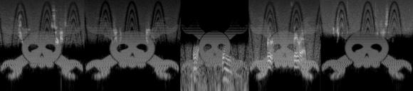 Images hidden in audio