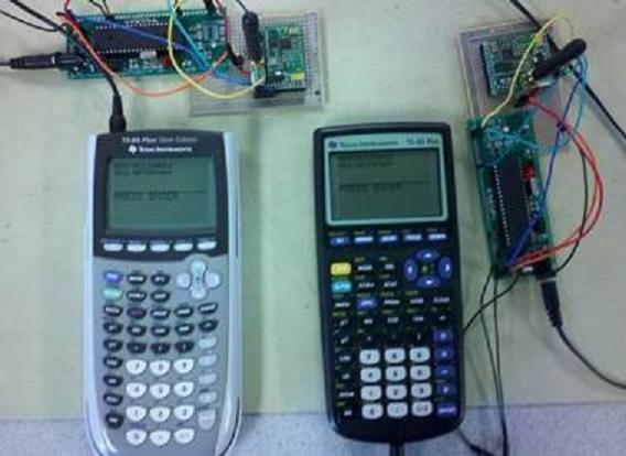 Send Wireless TXT Between Two TI Calculators | Hackaday