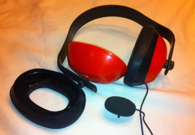 Noise Blocking headphones made from industrial earmuffs