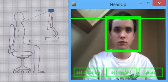Webcam based posture sensor