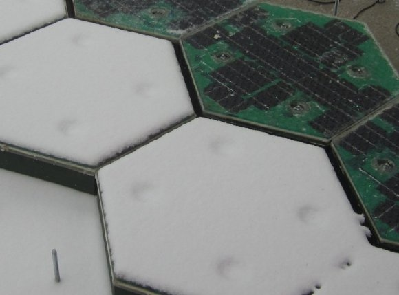 smart road tiles melting snow