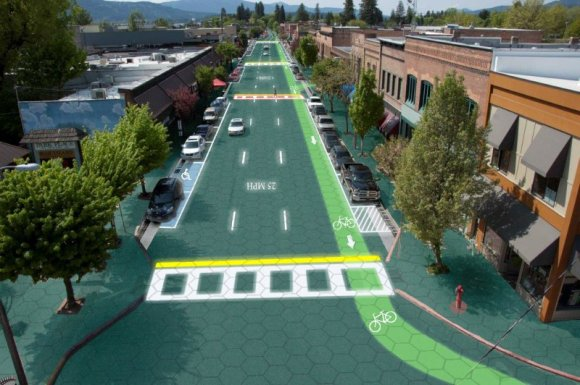 smart roadway with illuminated tiles