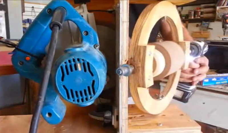 Wood Sphere made with circular saw