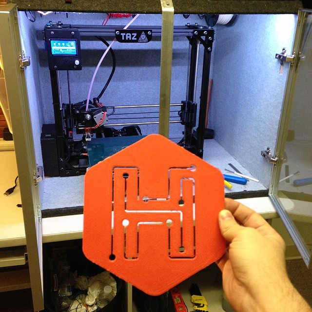 Hackyard Logo 3D Printed