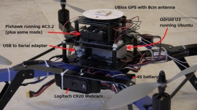 Quadcopter drone for popping balloons