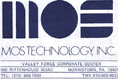 MOS Technologies logo and address