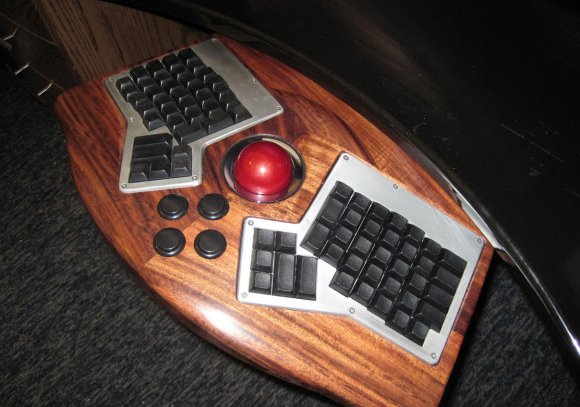 Gaming Keyboard in Desk