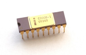 Intel 8008 Chip on white background