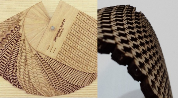 laser cut curved wood