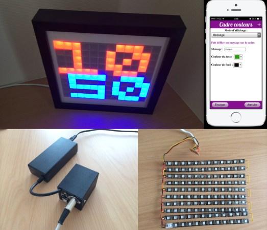 Network Controlled Decorative LED Matrix Frame | Hackaday