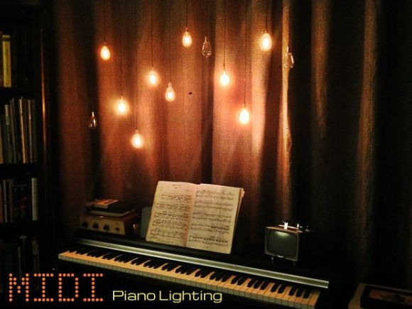 MIDI piano lights