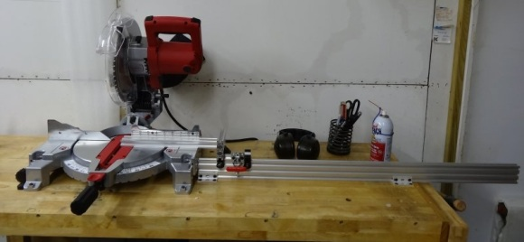 V Wheel Adjustable Miter Saw Stop