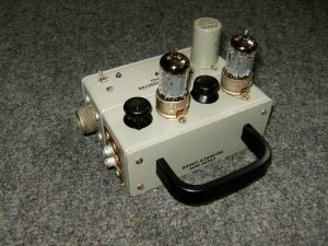 Battery operated portable tube preamp.