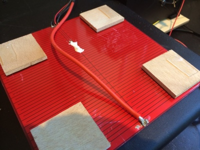 A heated bed for the Printrbot 3D printer