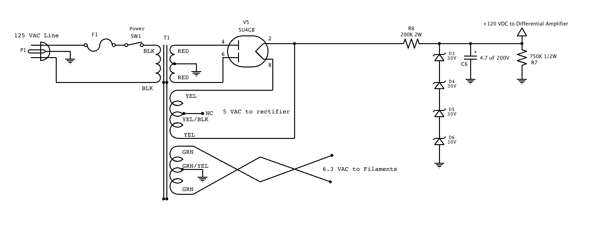 Diagram Likewise Simple Tube Guitar Pre Schematic On Dc Supply