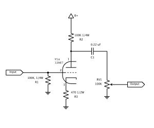vacuum tube pre-amp