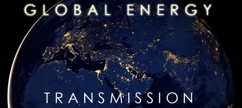 global transmission logo with earth in the background