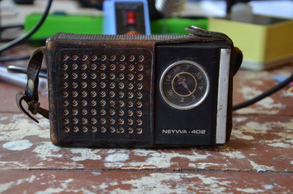 old soviet transistor radio