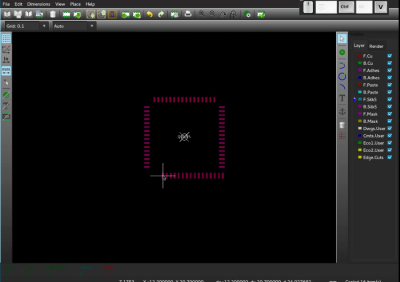 Photo from video demo of new KiCad module editor