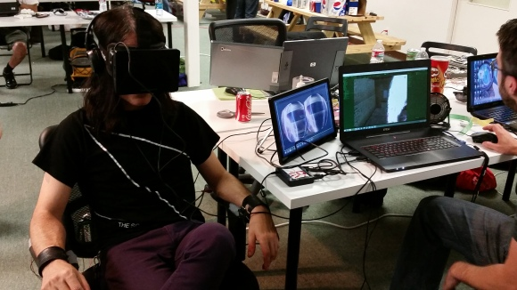 Non-Lethal electric chair for Oculus Rift Hackathon