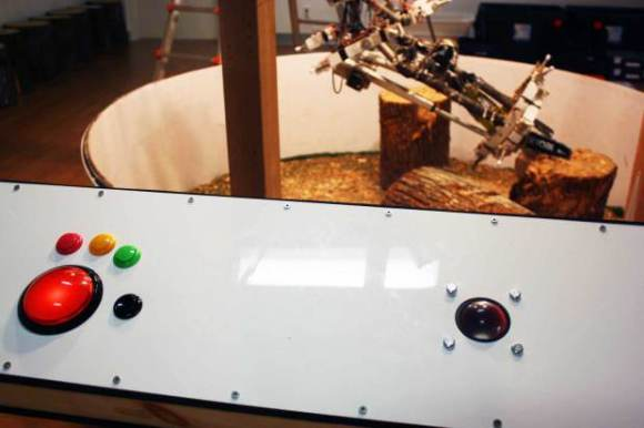 Chainsaw wielding robot