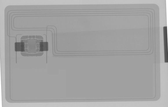 XRAY of Debit Card