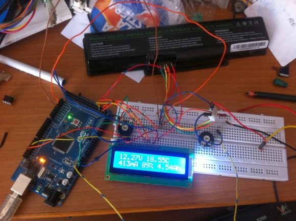Arduino with lithium ion battery