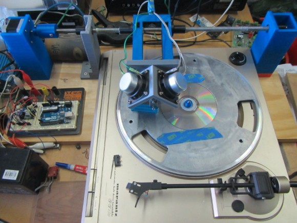 3D Printed Record Lathe