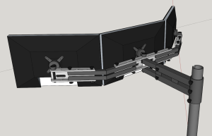 sketchup model of monitor mount