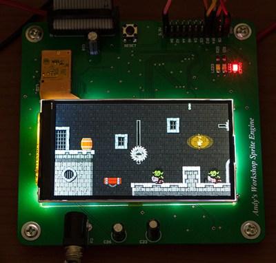 A demo running on an FPGA sprite accelerator
