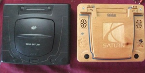 CNC'ed Wooden Case for Sega Saturn