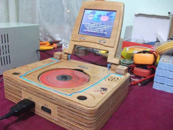 CNC'ed Wooden Case for Sega Saturn
