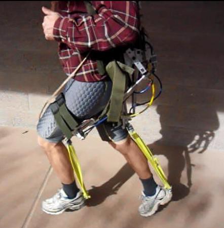 Pneumatic leg assistance
