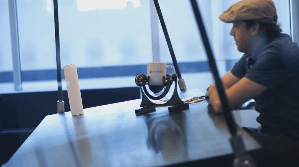 Using a Gimbal to Balance Your Coffee