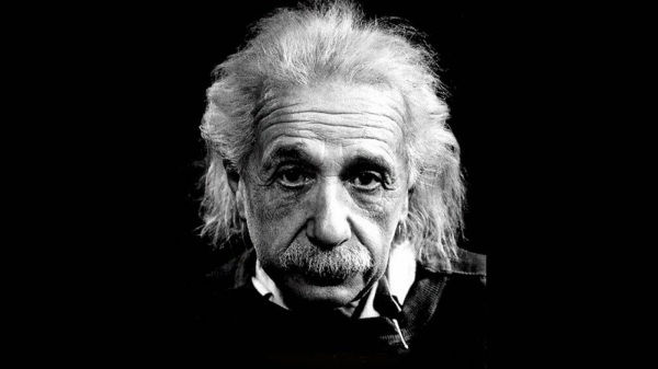 image of the face of einstein