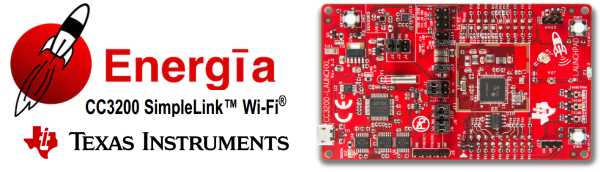 The CC3200 dev board with Energia