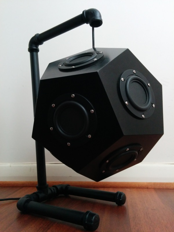 Homemade Omnidirectional Speakers In A Unique Enclosure