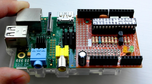 PiMagic RaspPi to Arduino Shield Interface