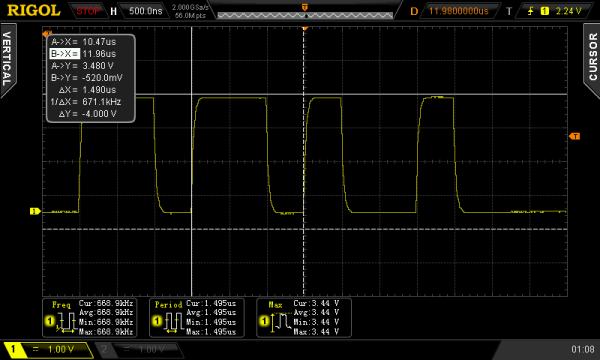WS2812 at 670 kHz