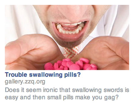 Sword Swallowing Ad