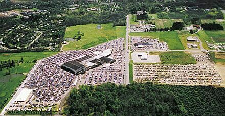 The size of the Dayton Hamvention is difficult to describe in words, but from the sky all of the massive number of trunk sales (where test gear is typically located) is clearly shown on the left side of the road.
