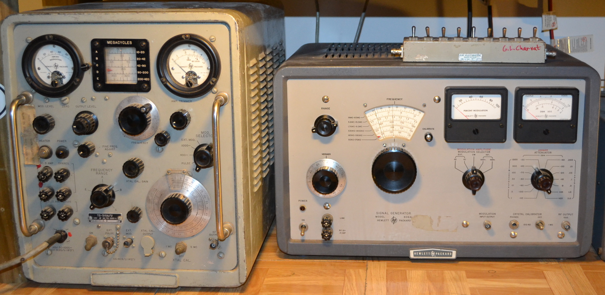 Two HP RF signal generators, all tube from the 1950's, work perfectly well and attenuators/power output still accurate (enough).