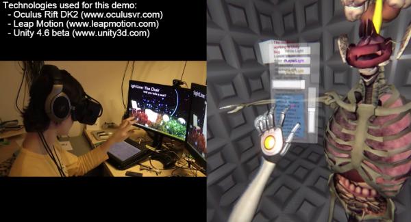 Leap motion controller plus oculus rift