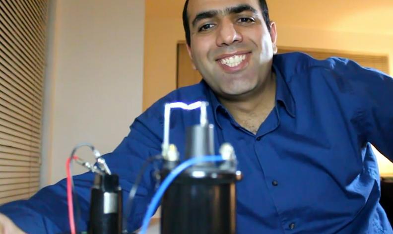 Mehdi wth his homemade taser