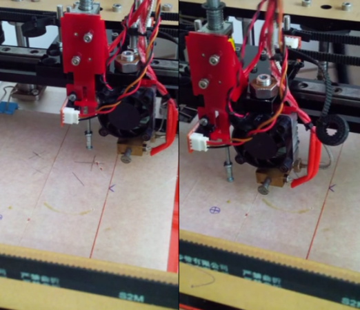 Printer bed leveling with a solenoid probe