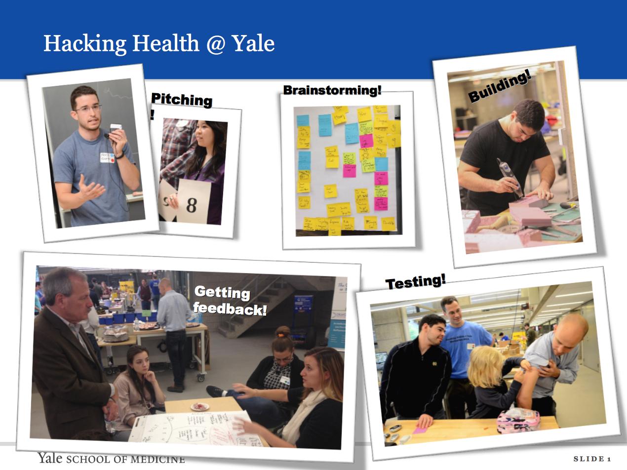 Hacking Health @ Yale.