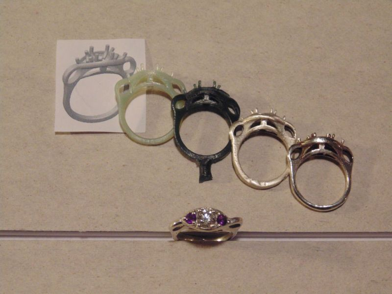 Casting Engagement Rings Or Other Small Metal Parts