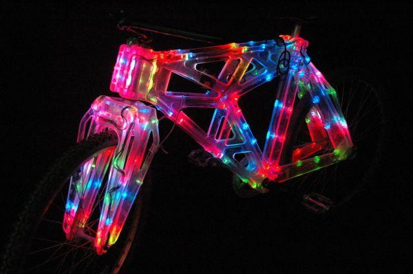Edge Lit Plastic Bike