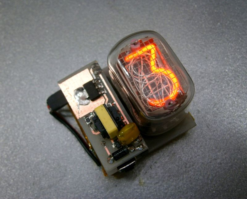 Simple And Elegant Single Digit Nixie Tube Clock | Hackaday