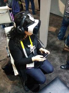 Sophi Kravitz trying out Oculus Gear VR